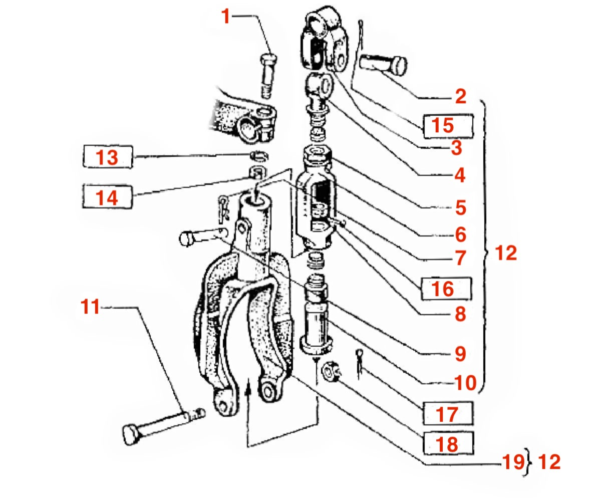 Схема раскоса трактора Т-150